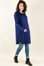 Kadın Tunik Lacivert Uzun Kol