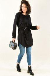 Kadın Tunik Siyah Uzun Kol