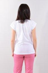 Kadın Tişört Beyaz Önu Yazılı-4