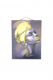 Afrika Kadın Temalı Simli Tablo No:1