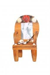 Dekoratif Doğal Deniz Kabuklu Sandalye Çerçeve Kahve