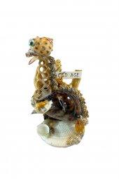 Dekoratif Doğal Deniz Kabuklu Dinazor Biblo