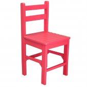 Renkli Ahşap Çocuk Sandalyesi