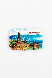 Endonezya Ulun Danu Fresco Magnet