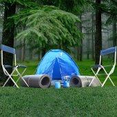Sukuti Outdoor 2 Kişlik Kamp Seti 8 Parça Çadır Sandalye Mat Ocak Tüp Işıldak