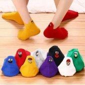 Nuh Home Kadın 12 Çift Emoji Patik Çorap...