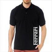 T-Shirt Polo Siyah SlimFit - Ferrari