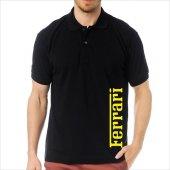 T-Shirt Polo Siyah SlimFit - Ferrari-3