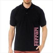 T-Shirt Polo Siyah SlimFit - Ferrari-5