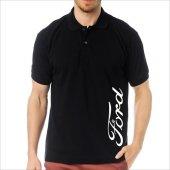 T Shirt Polo Siyah Slimfit Ford