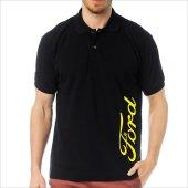 T-Shirt Polo Siyah SlimFit - Ford-2