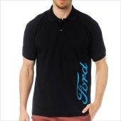 T-Shirt Polo Siyah SlimFit - Ford-3