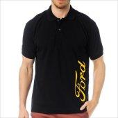 T-Shirt Polo Siyah SlimFit - Ford-5