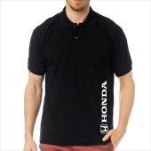 T Shirt Polo Siyah Slimfit Honda