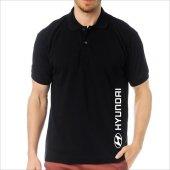 T Shirt Polo Siyah Slimfit Hyundai