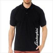 T Shirt Polo Siyah Slimfit Lamborghini