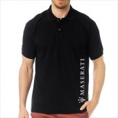 T Shirt Polo Siyah Slimfit Maserati Iı