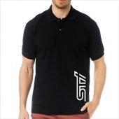 T Shirt Polo Siyah Slimfit Subaru Sti