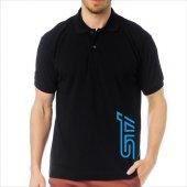 T-Shirt Polo Siyah SlimFit - Subaru STİ-4