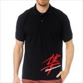 T-Shirt Polo Siyah SlimFit - Suzuki Hayabusa-2