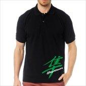 T-Shirt Polo Siyah SlimFit - Suzuki Hayabusa-8