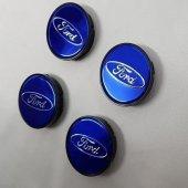 Jant Göbeği Ford 58 55 55mm Yuva 4'lü Set Mavi