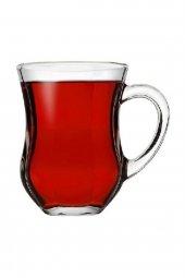 55373 Dem Kulplu Kahvaltı Keyif Çay Bardağı 140...