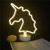 Sarı Unicorn Model Neon Led Işıklı Masa...