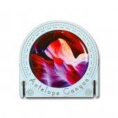 Pologift Ahşap Üzeri Epoksi Stickerli Yuvarlak Çerçeve