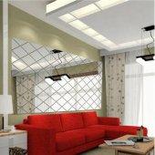 Dekoratif Duvar Dekorasyon Geometrik Üçgen Desen Ayna Pleksi