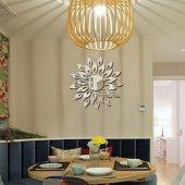 Dekoratif Duvar Dekorasyon Dalgalı Güneş Desen Ayna Pleksi 27adet
