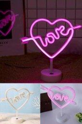 Love Yazılı Dekoratif Neon Led Masa Ve Gece...