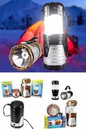 Solar USB Şarj Edilebilir Kamp Feneri Işıldak 12 LED Lamba