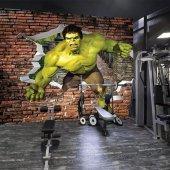 Spor Salonu Hulk Kiremit Tuğla Duvar Kağıdı