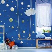 Dekoratif Duvar Dekorasyon Yuvarlak Desen Ayna...