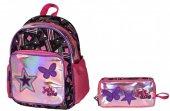 Joys Cool Yıldız İşlemeli Kız Çocuk Anaokulu Çanta Seti
