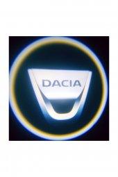Dacia Pilli Yapıştırmalı Kapı Altı Led Logo Aydınlatma Mesafe Sensörlü