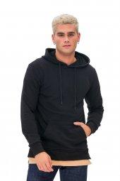 Karinmoda Günlük Erkek Sweatshirt Kapşonlu Siyah