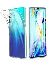 Huawei P30 Pro Şeffaf Kılıf Süper Silikon TPU