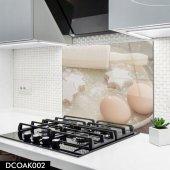Disegno Cam Ocak Arkası Koruyucu 50x50 Cm Hamur Malzemesi Model