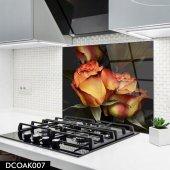 Disegno Cam Ocak Arkası Koruyucu 50x50 Cm Gül Model