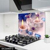 Disegno Cam Ocak Arkası Koruyucu 50x50 Cm Mum Model