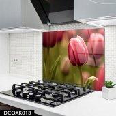 Disegno Cam Ocak Arkası Koruyucu 50x50 Cm Lale Model