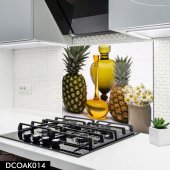 Disegno Cam Ocak Arkası Koruyucu 50x50 Cm Ananas Model