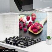 Disegno Cam Ocak Arkası Koruyucu 50x50 Cm Ahududu Model