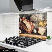 Disegno Cam Ocak Arkası Koruyucu 50x50 Cm Ekmek Model