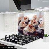 Disegno Cam Ocak Arkası Koruyucu 50x50 Cm Cupcake Model