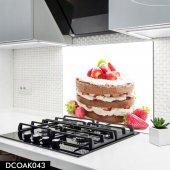 Disegno Cam Ocak Arkası Koruyucu 50x50 Cm Yaş Pasta Desenli