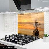 Disegno Cam Ocak Arkası Koruyucu 50x50 Cm Yelkenli Model