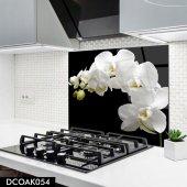 Disegno Cam Ocak Arkası Koruyucu 50x50 Cm Orkide Model